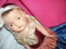 """16"""" vintage antique composition snow white doll old straw stuffed body toy"""