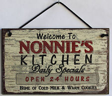 Nonnie s Sign Kitchen Grandma Diner House Mom Bake Cook Cookie Grand Parent Home