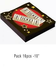 16 NAPKINS HOLLYWOOD MOVIE TICKET Movie Night Serviettes Party Tableware 75865
