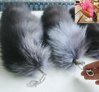 Unique Handbag Accessory Keychain Fox Fur Tail Tassel Bag Charm Pendant New Hot