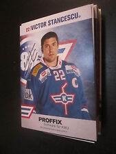 50084 Victor Stancescu Eishockey original signierte Autogrammkarte