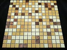 Mixed Autumn Color (Different shades of brown) Mosaic Glass Tile Kitchen & Bath