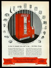 1948 Coca-Cola Coke machine art Westinghouse vintage print ad