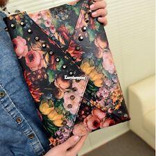 Hot Women Girl Oil Painting Envelope Bag Clutch Handbag Single Shoulder Satchel