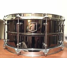 Darkhorse Percussion-14x6.5 Black Beauty Custom Brass Snare Drum-SJC Truth C&C