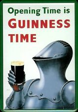 Guinness Knight Blechpostkarte Blechschild Metal Tin Post Card Sign 10 x 14 cm