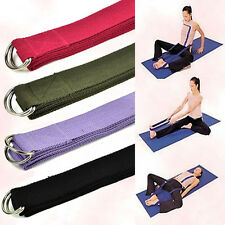 180cm Yoga Stretching Strap D-Ring Pilates Exercise Gym Belt Waist Fitness