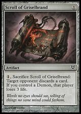 Scroll of Griselbrand X4 EX/NM Avacyn Restored Magic Cards Artifact Common