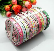 """20yards 3/8"""" mixed Style sewing satin grosgrain ribbon lot wholesale A-03.2.8"""