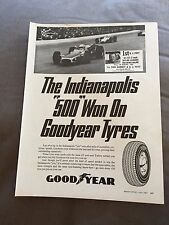 "VINTAGE 1960s ""INDIANAPOLIS 500"" GOODYEAR TYRES ORIGINAL ADVERT"