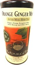 Orange Ginger Mint by The Republic of Tea 36 Herbal Tea Bags in a Tin 40017
