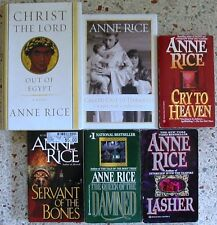 6 ANNE RICE BOOKS NO DOUBLES FREE SHIPPING