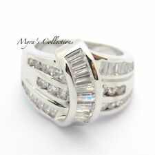 NEW CHANNEL SET ROUND CUT CZ CUBIC ZIRCONIA FASHION RIGHT HAND RING SIZE 9