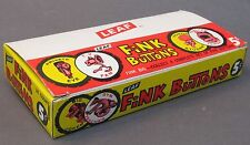 EMPTY BOX 1965 Basil Wolverton Leaf FINK pinback buttons Mad Magazine HIGH GRADE