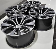 "22"" 2016 X6 SPARKLING STORM STYLE STAGGERED WHEELS RIMS FIT BMW X5 X6 1262 GM"