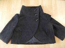 UND schöne kurze Cape Jacke schwarz Gr. M TOP ZC416