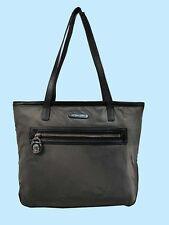 MICHAEL KORS KEMPTON Graphite Nylon/Black Leather SM Tote Bag Msrp $118.00