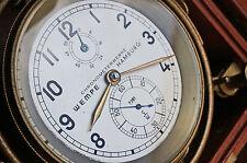 Rare Chronometerwerke Wempe Hamburg Ships Marine Chronometer Fusee, Key Wind