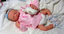 Full body solid Ecoflex 20 silicone preemie  baby girl Maisa #1 drinks and wet
