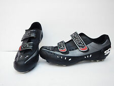 SIDI BLAZE Men's Size 47 Black Mountain Biking Shoes, Shimano SM-SH56 SPD Cleats