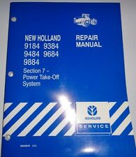 New Holland 9184 9384 9484 9684 9884 Tractor Power Take Off PTO Service Manual