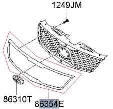 2009-2012 KIA FORTE SEDAN 4 PASSENGER ONLY OEM CHROME GRILL ACCENT 86353 1M010