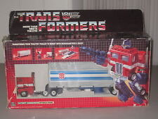 G1 Transformers Optimus Prime Blue Prerub COMPLETE Error Box Vintage 1984 CIB