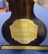 Vintage Shoe Sign Display Stand 1930's Buster Brown Store Display.