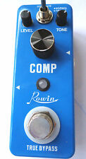 ROWIN LEF-333 COMP MINI (COMPRESSOR) EFFECT PEDAL FOR GUITAR WITH TRUE BY PASS