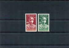 TURCHIA-TURKEY 1957 serie visita del re più PA 1328+A38  MNH