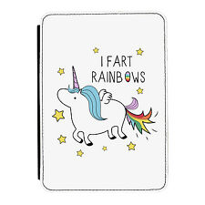 Unicorn I Fart Rainbows Funny Animal iPad Mini 1 2 3 PU Leather Flip Case Cover