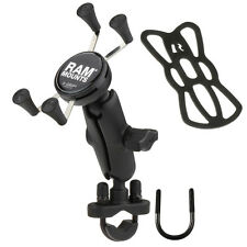 RAM Motorcycle Bike Handlebar Rail Mount and Universal X-Grip™ Cell Phone Holder