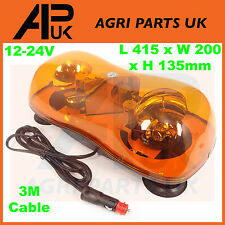 Magnetic Rotating Flashing Amber Beacon Bar Warning Light Recovery Van Truck