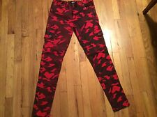 Women's Red Fox skinny camouflage cargo stretch pants/jeans size L