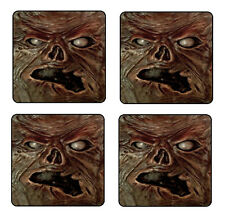 EVIL DEAD NECRONOMICON COASTER & HOLDER SET OF 4 - Gloss Hardboard FREE stand