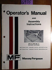 Massey Ferguson MF 61 MF 71 Rotary Cutter Owner Operator & Assembly Manual 1/78