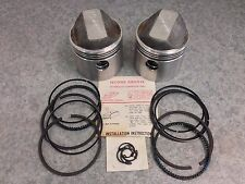 Piston Set Rings Pins Clips Harley Davidson 1000cc Sportster Ironhead +.040 Kit