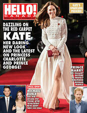 Hello Canada Exclusive Magazine Red Carpet Kate 2016 Nov. #529 Brand New