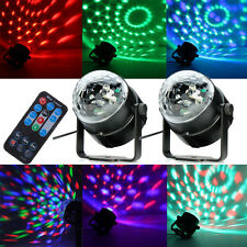 2PCS RGB DJ Disco Party Magic Ball Crystal Effect Light Stage Lighting w/ Remote