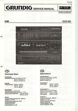 Grundig Service Anleitung Manual CCD 600 Schaltplan Tipps Werkstatt  B298