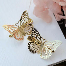 girls Shiny Golden Butterfly Hair Clip Headband Hairpin headwear Accessory