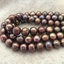 "6-7mm Genuine Natural Chocolate Freshwater Pearl Rondelle Loose Beads 15""AAA"