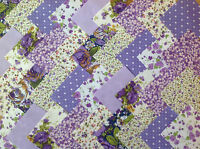 COTTON FABRIC PATCHWORK SQUARES PIECES CHARM PACK 2, 4, 5 INCH ~ LILAC