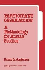 Participant Observation: A Methodology for Human Studies (Applied Soci-ExLibrary