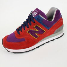 *MADE IN USA* NEW BALANCE 574W1 SNEAKERS WOMENS SIZE 6B RED SHOES SUEDE EU 36.5