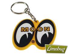 Mooneyes Yellow Moon Key Ring Rubber Keyring Custom VW Camper Beetle Hotrod Bug