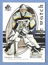 PEKKA RINNE 2005-06 SP Authentic ROOKIE card #/1999 Nashville Predators NHL Rc *