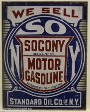 SOCONY Motor Gasoline Metal Sign standard oil of NY vintage weathered look 2000