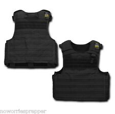 Black TACTICAL PLATE CARRIER POLICE US Military Quality Combat Ready MOLLE VEST
