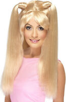 New Womens Blonde Baby Spice Wig Music Icon 1990's Fancy Dress Girl Power Wig